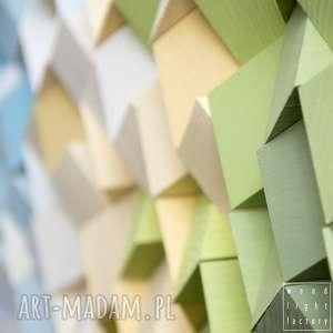 zielone dekoracje mozaika drewniana