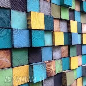 dekoracje mozaika drewniana na zamówienie