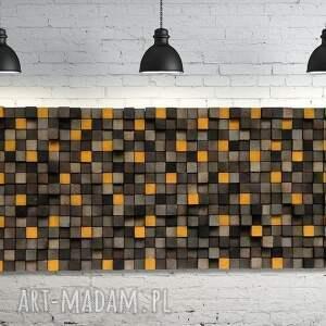 mozaika dekoracje drewniana