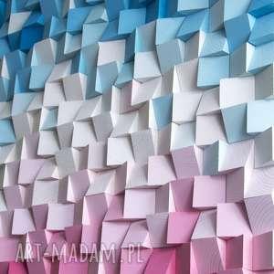 unikatowe dekoracje mozaika drewniana