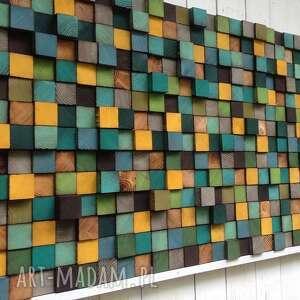 dekoracje drewniana mozaika na zamówienie