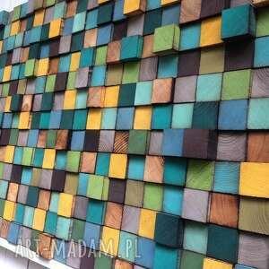 drewniana dekoracje mozaika na zamówienie