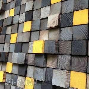 handmade dekoracje mozaika drewniana