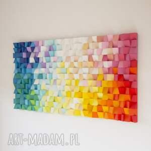 niebieskie dekoracje rękodzieło mozaika drewniana, obraz 3d dyfuzja
