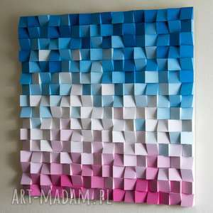 dekoracje: Mozaika drewniana na zamówienie - handmade wall art