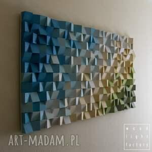 ręczne wykonanie dekoracje wallart mozaika drewniana, wykonana z sosnowych kostek