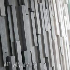 wallart dekoracje turkusowe mozaika 3d, obraz drewniany