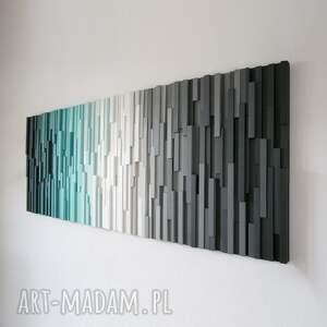 niebanalne dekoracje wallart mozaika 3d, obraz drewniany