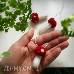 muchomorek dekoracje muchomorki z wełny