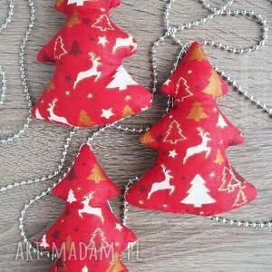 pomysł na upominek gwiazdka ręcznie uszyte świąteczne dekoracje zawieszki