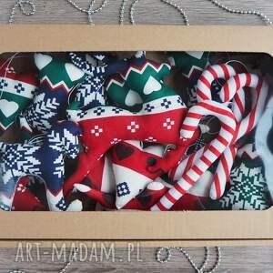 prezent na święta ręcznie uszyte świąteczne dekoracje zawieszki
