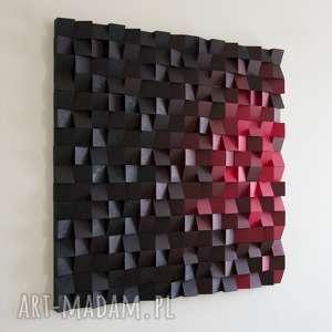 mozaika dekoracje czerwone obraz drewniany
