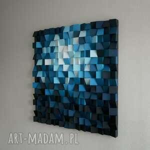 białe dekoracje drewniany obraz 3d mozaika