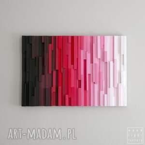 różowe dekoracje gradient obraz drewniany 3d mozaika