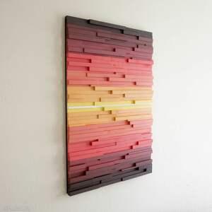 Wood Light Factory dekoracje: Obraz drewniany 3D Mozaika drewniana F1 na zamówienie - wallart modern