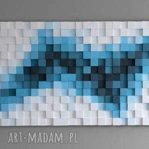 Wood Light Factory dekoracje: Obraz drewniany 3D Mozaika drewniana TR - ręcznie robione modern