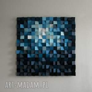 eleganckie dekoracje mozaika obraz drewniany