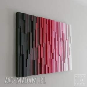 dekoracje ombre obraz drewniany 3d mozaika