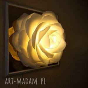 dekoracje nocną odraz 3d. lampka