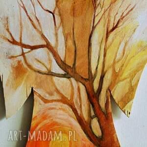 dekoracje anioł opiekun obraz farbami akrylowymi