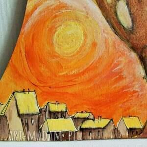 żółte dekoracje opiekun obraz farbami akrylowymi