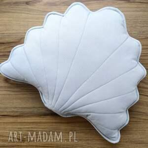 dekoracje muszla poduszka dekoracyjna szara