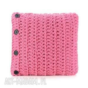 ręcznie robione dekoracje poduszka mono, różowa