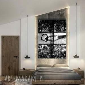 czarne dekoracje szara dekoracja popielato czarna abstrakcja
