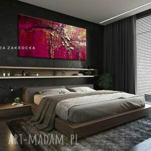 dekoracje fuksjowa abstrakcja promienna fuksja obrazy do salonu