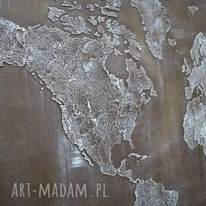 świata dekoracje ręcznie malowana mapa - 01