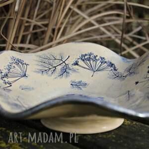 dzień babci dekoracje turkusowe rustykalna patera ceramiczna