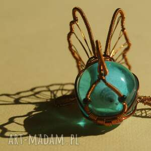 wire-wrapping dekoracje rybcia na szczęście - figurka