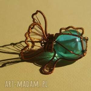 turkusowe dekoracje żywica-epoksydowa rybcia na szczęście - figurka