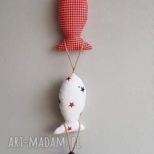maArt dekoracje: Rybki bawełniane - zawieszki