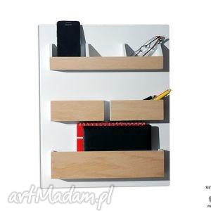 organizer dekoracje białe set2 - drewniany nad