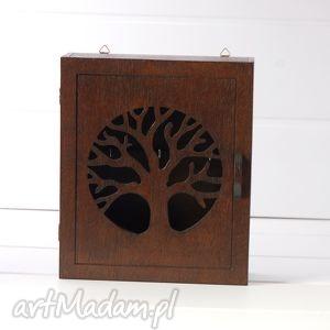 dekoracje klucze skrzynka - drzewo - wenge