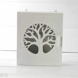 handmade dekoracje klucze skrzynka na - drzewo, biała