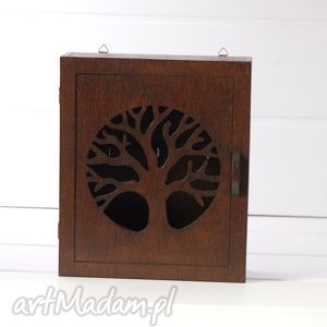 dekoracje klucze skrzynka na - drzewo wenge
