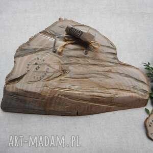 unikalne dekoracje sowa malowana na klinie drewna