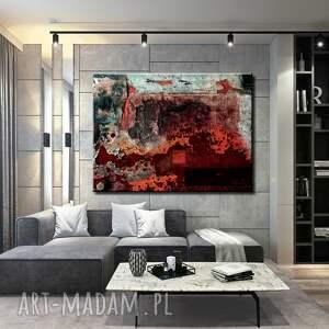 urokliwe dekoracje czerwona dekoracja strukturalna lawa - abstrakcyjne