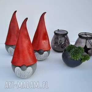 święta prezenty skrzat świąteczny ceramiczny - gnom