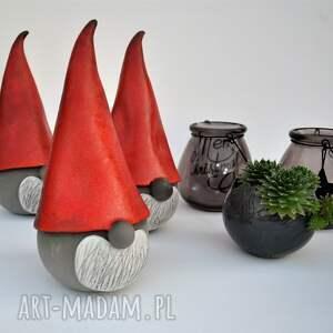 święta prezenty ozdoba świąteczny skrzat ceramiczny - gnom