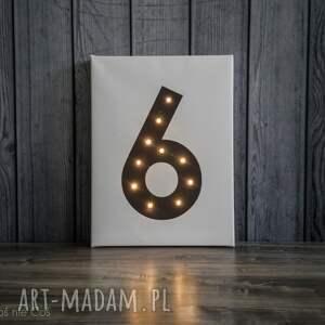 białe dekoracje lampka świecąca cyfra dekoracja lampa