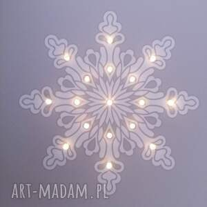 pomysł na prezenty święta śnieżynka świecący obraz led