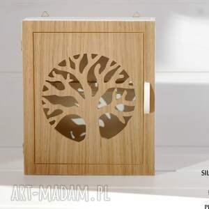 brązowe dekoracje szafka na klucze natural tree