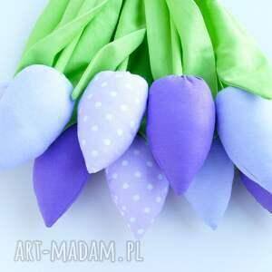 tulipany dekoracje bawełniane 9 szt