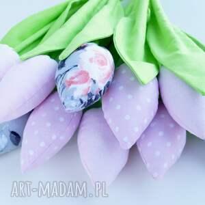 tulipany dekoracje różowe bawełniane dekoracja