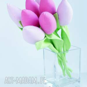 święta prezenty tulipany bawełniane dekoracja