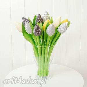 wyjątkowe dekoracje tulipany - bawełniane kwiaty