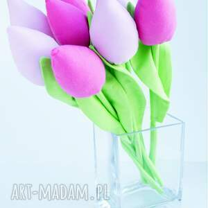 święta prezenty wielkanoc tulipany bawełniane dekoracja
